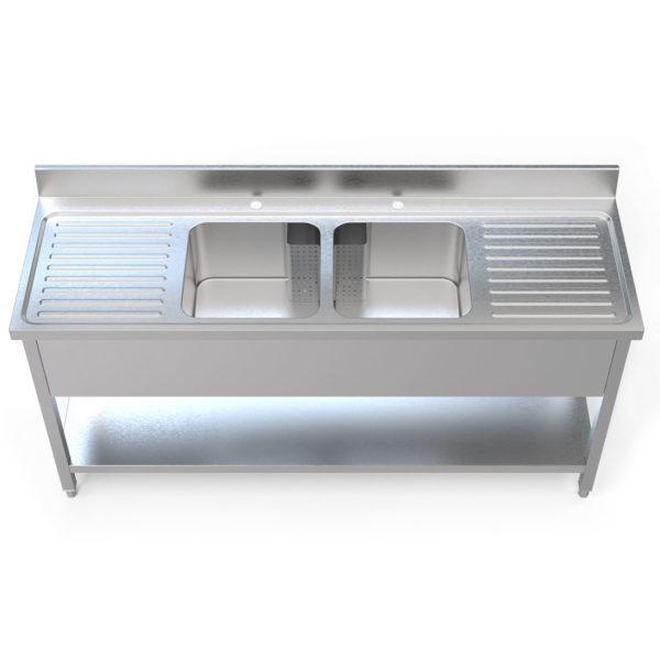 Image for cksonline.com.au for the Borrelli 1800mm Double Drainer - Double Bowl Sink