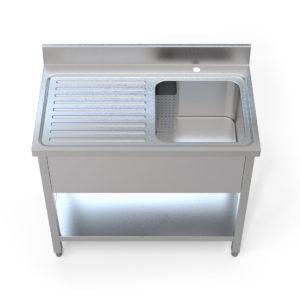 Image for cksonline.com.au for the Borrelli 1000mm Left Hand Drainer – Single Bowl Sink