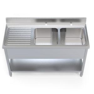 Image for cksonline.com.au for the Borrelli 1400mm Left Hand Drainer - Double Bowl Sink