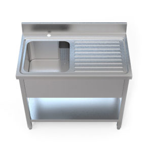 Image for cksonline.com.au for the Borrelli 1000mm Right Hand Drainer - Single Bowl Sink